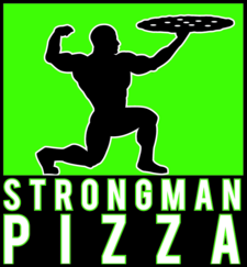 strongman pizza logo